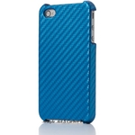 Ai-Style iPhone4 Carbon Look(ハードケース カーボンルック) 【Ai4-Carbon-Blue】(ブルー)