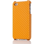 Ai-Style iPhone4 Carbon Look(ハードケース カーボンルック) 【Ai4-Carbon-Yellow】(イエロー)