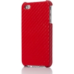 Ai-Style iPhone4 Carbon Look(ハードケース カーボンルック) 【Ai4-Carbon-Red】(レッド)