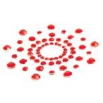 MiMi ラインストーンニップルカバー RED
