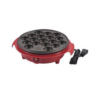 AD-18 電気たこ焼き器 18穴 赤 (箱入)