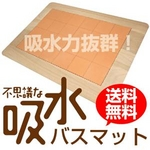 バスマット 不思議な吸水バスマット 〜桐と珪藻土の足拭きバスマット〜