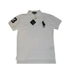 POLO Ralph Lauren(ポロ ラルフローレン) ビッグポニーポロシャツ(半袖) カスタムフィット ホワイト×ブラック Mサイズ