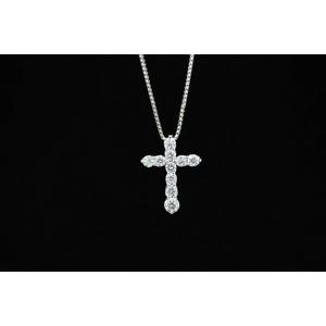 1ctダイヤモンドクロスネックレス JK06888