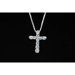 0.3ctダイヤモンドクロスネックレス JH02443