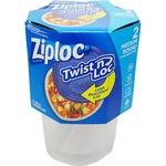 【訳あり・在庫処分】 Ziploc コンテナ ツイストロック ラウンド Mサイズ 2P 【2個セット】