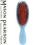 MASON PEARSON(メイソンピアソン) ナイロン+猪毛ブラシ ポケットサイズ ブルー 【正規輸入品】