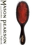 MASON PEARSON(メイソンピアソン) 猪毛ブラシ ハンディブリッスル ダークルビー(クリーニングブラシセット)【正規輸入品】