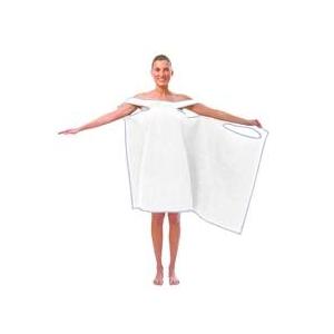 TVで紹介され大人気!着れるバスタオル「バスタローブ」(スノーホワイト)