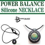 POWERBALANCE(パワーバランス) シリコンネックレス/ホワイト