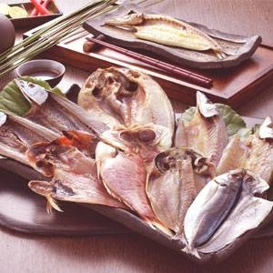 沼津「奧和」のひもの詰合せ5種(9枚)あじ、さんま、かます、金目鯛、ほっけ