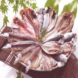 沼津「奧和」のひもの詰合せ6種(15枚)あじ、さんま、かます、金目鯛、えぼ鯛、ほっけ