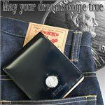 メモリアルレザーウォレット(財布)ラッキーペニーコイン付き【1967年】SD204 ブラック
