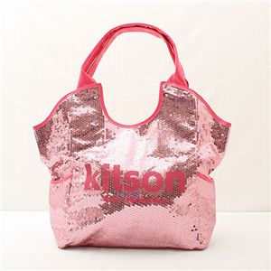 kitson(キットソン) スパンコール トートバッグ Sequin Tote Bag ピンク