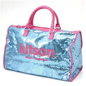 kitson(キットソン) スパンコール ボストンバッグ LEGGAGE SEQUIN TOTE /LightBlue
