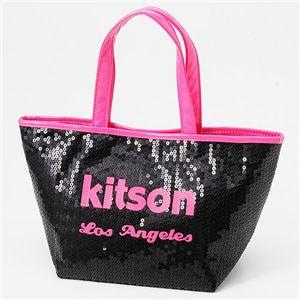 kitson(キットソン) ネオン スパンコール ミニトートバッグ Pink