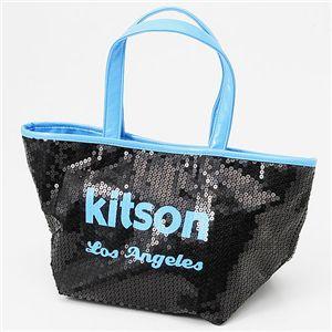 kitson(キットソン) ネオン スパンコール ミニトートバッグ Blue
