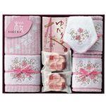 桜 吹雪 (ミニタオル1枚・ウォッシュタオル2枚・ ・フェイスタオル1枚・石鹸2個・入浴剤3袋)