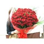 赤バラ100本花束