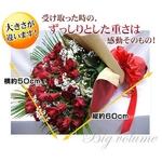 還暦・還暦祝い60本赤バラ花束 かすみ草付き