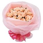 ピンクのバラ花束のミニブーケ