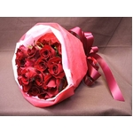 赤バラ花束のミニブーケ 20本