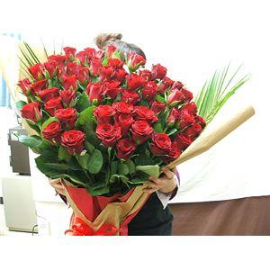 【母の日限定ギフト】赤バラ花束60本 迫力の大きさとボリューム