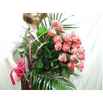 生花 20本ピンクバラ花束