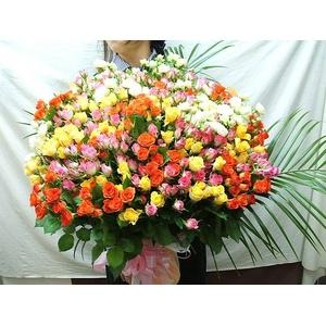 豪華!厳選バラ100本 スプレーバラ花束