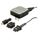 Rix(リックス) FOMA/SoftBank/au/willcom対応!家庭用コンセントAC充電器 (ブラック) RX-JUA682BK 【2個セット】