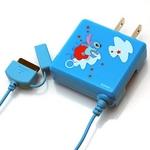 Rix(リックス) ディズニー (Disney) 家庭コンセント (AC) 充電器 au対応 (スティッチ) RX-DNY417STI 【2個セット】