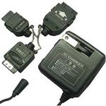 Rix(リックス) 家庭コンセント (AC) 充電器 AC100V対応 コード長約1.5m スタンダードモデル FOMA/SoftBank/AU/DoCoMo mova/SoftBank PDC用 (ブラック) RX-JUA955PAF 【2個セット】