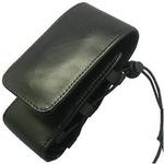 Rix(リックス) 高級本革仕様、縦型携帯ケース 厚み調整できる編み上げ式 (ブラック) RX-CATBK 【2個セット】