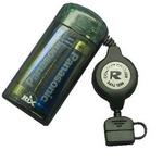 Rix(リックス) au用 巻取り式充電器 (ブラック) RX-JUK722ABK 【3個セット】