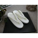 草履単品 螺鈿入り 白系 礼装用 607 ★おまけ付き草履