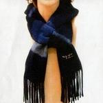 「冬のソナタ」オリジナル・マフラーコレクション 紺色(縞模様)