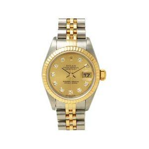 【中古A】ROLEX(ロレックス) 腕時計 デイトジャスト 79173G  シャンパン文字盤 Y番