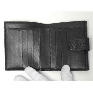 【現品限り】CHANEL(シャネル) Wホック財布 キャビア  ブラック 【中古A】