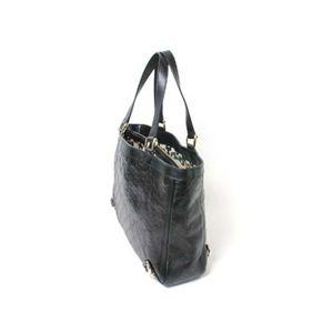 【現品限り】GUCCI(グッチ) シマ トートバッグ カーフ キャンバス 黒/ブラック 170004 【中古AB】