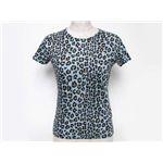 【現品限り】FENDI(フェンディ) Tシャツ コットン42% モダール42% ナイロン16% ブルー 【中古A】