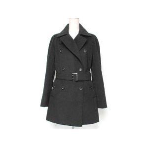 【現品限り】BURBERRY(バーバリー) コート アンゴラ65% 羊毛35% 黒 【中古A】
