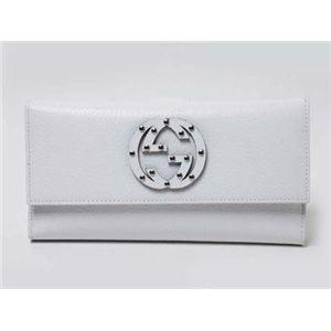 【現品限り】GUCCI(グッチ) Wホック長財布 ビットロゴ入り アウトレット品 カーフ ホワイト 231843 【未使用】
