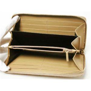 【現品限り】GUCCI(グッチ) シマ ラウンドファスナー長財布 カーフ ライトベージュ 112724 【新品】