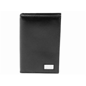 【現品限り】Dolce&Gabbana(ドルチェ&ガッバーナ) カードケース カーフ ブラック 【未使用】