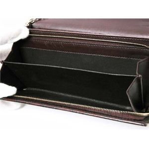 【現品限り】GUCCI(グッチ) シマ チェーン付き長財布 170426 カーフ ブラウン 【中古A】