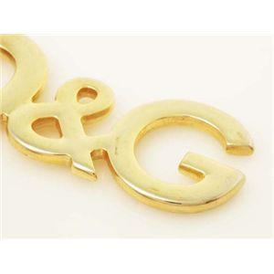 【現品限り】Dolce&Gabbana(ドルチェ&ガッバーナ) キーリング ハラコ ゴールド 【中古AB】