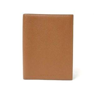 【現品限り】BVLGARI(ブルガリ) 手帳カバー カーフ ブラウン 20053 【新品】