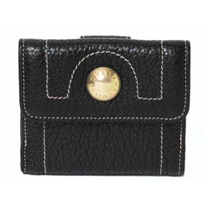 【現品限り】Dolce&Gabbana(ドルチェ&ガッバーナ) Wホック財布 カーフ ブラック 【中古B】