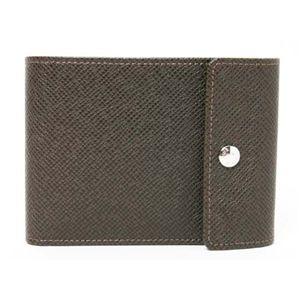 【現品限り】LOUIS VUITTON(ルイ ヴィトン) タイガ 二つ折り財布 カーフ グリズリ M30648 【未使用】