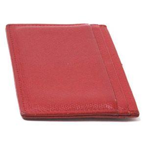【現品限り】CHANEL(シャネル) ココボタン カードケース カーフ 赤 A20906 【中古AB】